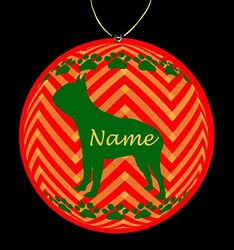 Boston Terrier Dog Breed Personalized Christmas Ornament
