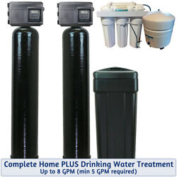 Complete Whole Home Water Treatment Plus Drinking Water - Up To 8 Gpm - Fleck 25