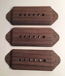 Guilford Indian Rosewood P-90 Dog Ear Pickup Covers -set Of 3- Gibson Lollarsd