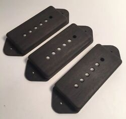 Guilford Genuine Ebony P-90 Dog Ear Pickup Covers -set Of 3- Gibson Lollar Sd