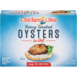 Chicken Of The Sea Smoked Oyster In Oil 3.75 Oz, 18 Cans Per Case