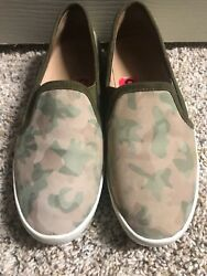 Euc Joie Huxley Suede Skate Sneaker Slip On Cushioned Insole Camo Print