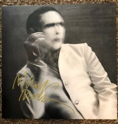 Marilyn Manson Rare Signed The Pale Emperor Grey Vinyl LP Record wproof
