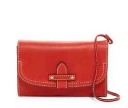 Nwt Women's Frye Leather Casey Wallet Crossbody Bag Purse Red
