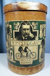 Antique Rare 1890's W.p. Clegg And Co. Bicycle Accessories / Parts Container.