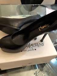 YSL  Designer Shoes  Trib Too black patent leather size 7.5 $290.00