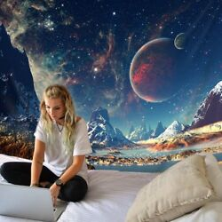 Galaxy Space Star Tapestry Psychedelic Planet Tapestry Wall Hanging Home Decor