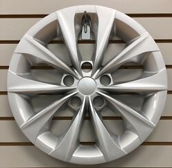 New 16 10-spoke Silver Hubcap Wheelcover Fits 2015 2016 2017 Toyota Camry