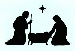 Nativity Die Cuts, Christmas Die Cuts, Nativity Scene, 2.5 Or 4 Tall-any Color