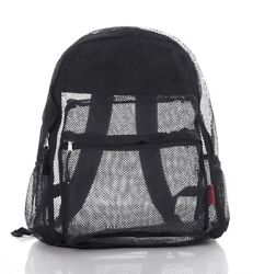 Clear Mesh Backpack For Kids Men Women Transparent See Through $13.55