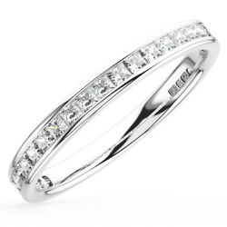 0.50carat Princess Cut Diamonds Half Eternity Wedding Ring in 18K Gold