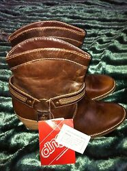 DINGO BY DAN POST CHOCOLATE HARNESS SHORTANKLE COWBOY BOOT NEW In Bo