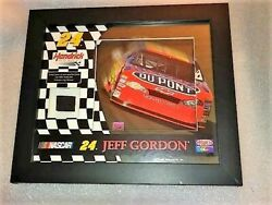 Nascar Jeff Gordon 24 Framed Race-used Tire Mounted Memories And Photo.