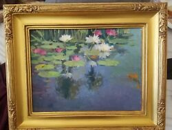 Mission Pond Oil Painting Santa Barbara Plein Air Artist Meredith Brooks Abbott