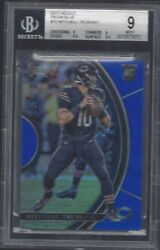Mitchell Trubisky 2017 Select Blue Prizm Bears Rookie Rc D 128/149 Bgs 9 Mint