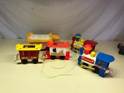 Old Vtg FISHER PRICE Toy LOT Telephone Switchboard Train Cassette Player Truck