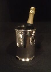 Beautiful Vintage Italian Solid Silver Wine Bottle Stand/cooler C1968 677grams