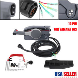 Boat Outboard Remote Control Box 703 OEM for Yamaha Side Mount 10 Pin Cable