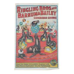 Offset Lithograph Ringling Bros And Barnum And Bailey Combined Shows Poster