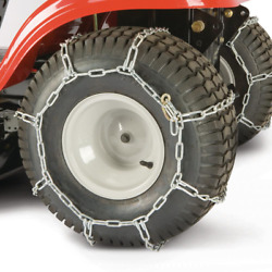 Tractor Tire Chains Steel Link Chain Pair For 22 X 9.5 In. Mower Tractor Wheels