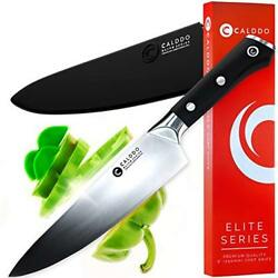 CALDDO Elite Series Chef Knife 8 inch– High Carbon German Quality Cooking – for