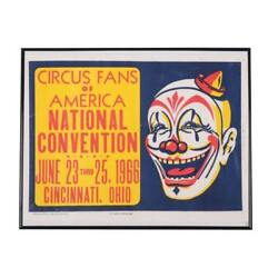Vintage 1966 Ringling Bros And Barnum And Bailey Combined Shows Poster Date 1966