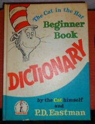 Vintage 1964 CAT IN the HAT DICTIONARY Beginner Book PD EASTMAN Dr. Seuss