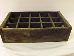 Vintage Rare Step-up Soda Drink Cola Wooden Bottle Crate Boston Mass 16 X 4