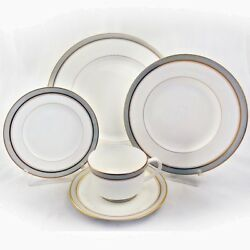 Howard Grey Royal Worcester 5 Piece Place Setting New Never Used Made In England