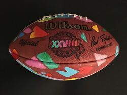 PETER MAX (ONE OF A KIND) HAND PAINTED AND SIGNED OFF. SUPERBOWLXXVIII  FOOTBALL