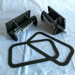 1 Pair Black Aluminum Popup Air Flow Low Profile Roof Vent Trailer And Gaskets