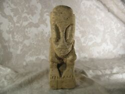 Easter Island Moai Head Style Carved Stoned Statue Made In Indonesia