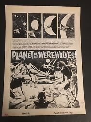 EERIE #46 PLANET OF THE WEREWOLVES ORIGINAL ARTWORK BY REED CRANDALL COMP.9 PGS