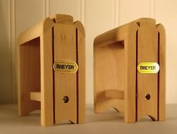 Set of 2 Breyer Traditional Toy Wood Saddle Stands