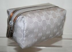 GUCCI GG Monogram Cosmetic Makeup Bag     Travel  Size