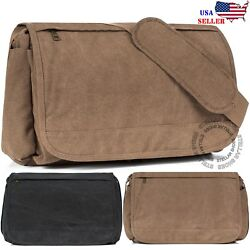 NEW Men#x27;s Vintage Canvas Schoolbag Satchel Shoulder Messenger Bag Laptop Bags $21.99