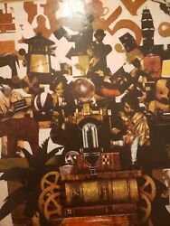 Reel To Reel By Listed Artist Paul H. Davis Original Signed Oil On Canvas