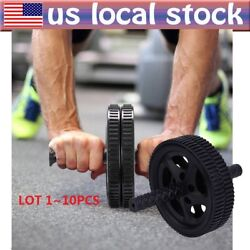1~10PCS Roller Wheel Abs Crunch Machine Abdominal Stomach Slide Exercise LOT BE