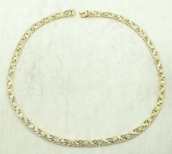 Stunning 14k Yellow Gold Dia. Cut X And O Link Necklace 6..3mm 17.5in 26.4g D3182