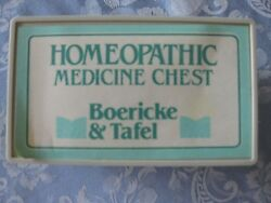 Vintage Boericke And Tafel Homeopathic Medicine Storage Chest Filled