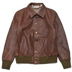 Nwt Levi's Vintage Clothing Lvc Strauss Leather Jacket Made In Italy Rrp 1500