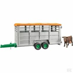 Bruder Cattle Trailer And Cow 116 Scale Model