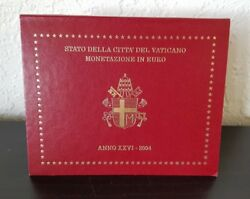 Vatican Brilliant Uncirculated 8 Coins Annual Coin Set 2004 In Blister