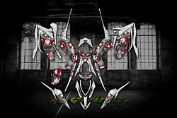 Yamaha Raptor 700 2013-2019 The Freak Show Graphics For White And Red Parts 700r