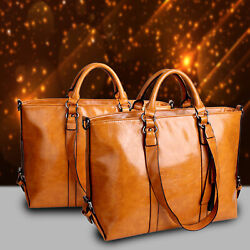 New Women Large Leather Tote Bag Commute Handbag Shoulder Satchel Bag Elegant $17.95