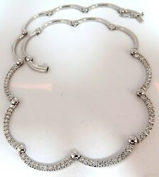 2.26ct Natural Diamonds Modern Arch Link Necklace 14kt Ball Hinge G/vs+