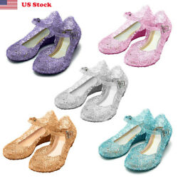 Children's Day Gift Girls Cosplay Dress Up Party Sandals Crystal Princess Shoes