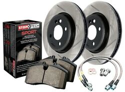 StopTech 977-34040R Sport Brake Kit Slotted Rear Incl. Rotors Pads And Stainless