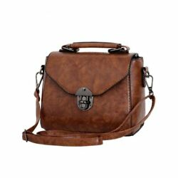 Vintage Women Leather Bag Casual Small Handbag Shoulder Messenger Crossbody Bags $20.89