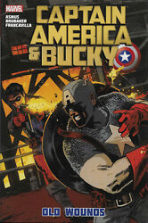 Captain America And Bucky Old Wounds Marvel Comics Hard Cover Signed Ed Brubaker